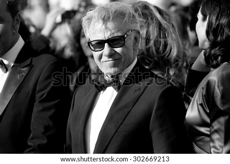 CANNES, FRANCE- MAY 20: Harvey Keitel attends the 'Youth' Premiere during the 68th Cannes Film Festival on May 20, 2015 in Cannes, France. - stock photo