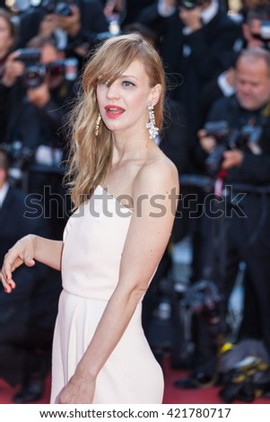 Cannes, France - 15 MAY 2016 - Heike Makatsch during the premiere red carpet 'From The Land Of The Moon (Mal De Pierres)' on the 69th annual Cannes Film Festival - stock photo