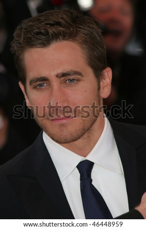 CANNES, FRANCE - MAY 17: Jake Gyllenhaal  attends the premiere of the movie 'Zodiac' at the Palais des Festivals during the 60th International Cannes Film Festival on May 17, 2007 in Cannes, France. - stock photo