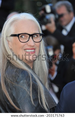 CANNES, FRANCE - MAY 24, 2014: Jane Campion at the gala awards ceremony at the 67th Festival de Cannes.  - stock photo