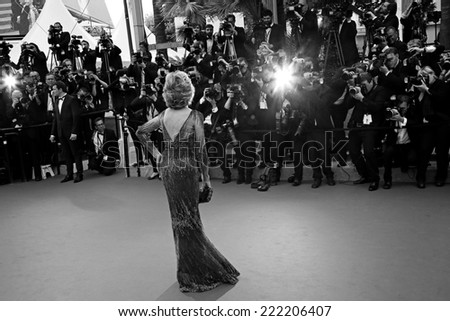 CANNES, FRANCE - MAY 14: Jane Fonda attends the opening ceremony and 'Grace of Monaco' premiere at the 67th Annual Cannes Film Festival on May 14, 2014 in Cannes, France. - stock photo