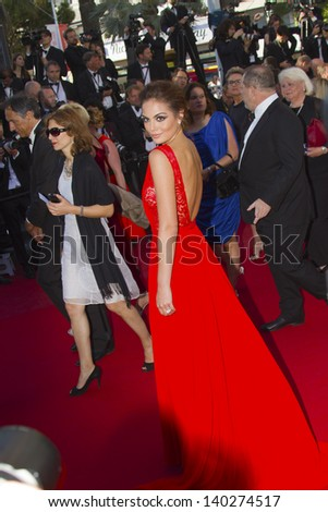 CANNES, FRANCE - MAY 26: Jimena Navarrete  attends the Premiere of 'Zulu' and the Closing Ceremony of The 66th  Cannes Film Festival at Palais on May 26, 2013 in Cannes, France. - stock photo
