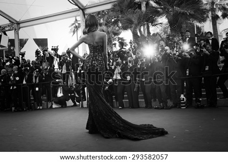 Cannes, France -  May 22, 2015: Jourdan Dunn attends the 'The Little Prince' premiere during the 68th annual Cannes Film Festival on May 22, 2015 in Cannes, France. - stock photo