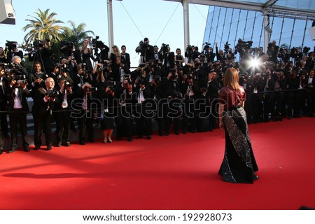 CANNES, FRANCE - MAY 15: Julianne Moore attends the 'Mr.Turner' Premiere at the 67th Annual Cannes Film Festival on May 15, 2014 in Cannes, France.  - stock photo