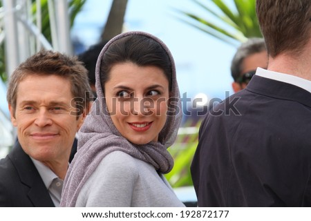 CANNES, FRANCE - MAY 14: Jury member Leila Hatami attends the Jury photocall during the 67th Annual Cannes Film Festival on May 14, 2014 in Cannes, France.  - stock photo
