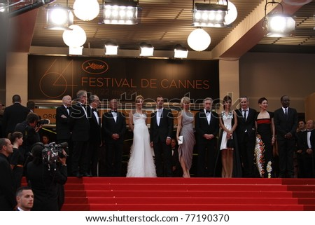 CANNES, FRANCE - MAY 11:  Jury members  and Robert De Niro, attend the Opening Ceremony and 'Midnight In Paris' Premiere at the Palais during the 64 Cannes  Festival on May 11, 2011 in Cannes, France - stock photo