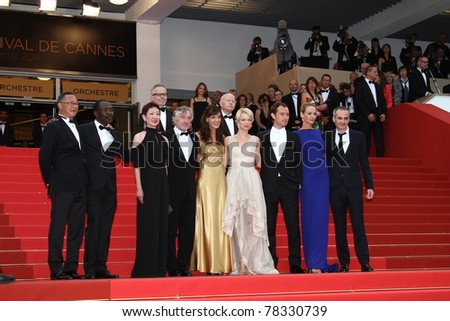 CANNES, FRANCE - MAY 22: Jury Members attend the 'Les Bien-Aimes' premiere at the Palais des Festivals during the 64th Cannes Film Festival at Palais des Festivals on May 22, 2011 in Cannes, France. - stock photo