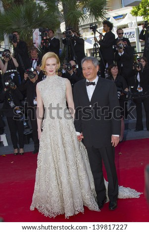 CANNES, FRANCE - MAY 23: Jury members Nicole Kidman and Ang Lee attend the 'Nebraska' premiere during The 66th Cannes Film Festival at the Palais des Festival on May 23, 2013 in Cannes, France. - stock photo