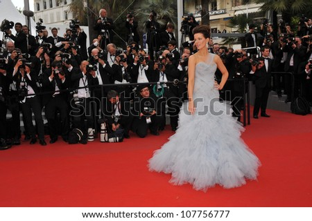 "CANNES, FRANCE - MAY 12, 2010: Kate Beckinsale  at the premiere of ""Robin Hood"" the opening film at the 63rd Festival de Cannes. - stock photo"