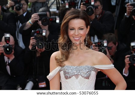 CANNES, FRANCE - MAY 14:  Kate Beckinsale attends the  'Wall Street: Money Never Sleeps' held at the Palais during the 63rd   Cannes Film Festival on May 14, 2010 in Cannes, France. - stock photo