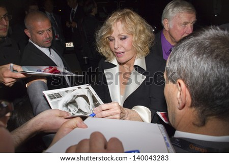 CANNES, FRANCE - MAY 26: Kim Novak attends the 'Zulu' Premiere and Closing Ceremony during the 66th Annual Cannes Film Festival at the Palais des Festival on May 26, 2013 in Cannes, France. - stock photo