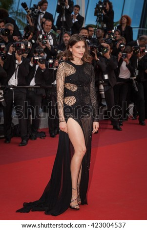 Cannes, France - 18 MAY 2016 - Laetitia Casta attends a screening of 'The Unknown Girl (La Fille Inconnue)' at the annual 69th Cannes Film Festival - stock photo