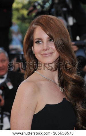 CANNES, FRANCE - MAY 16, 2012: Lana Del Rey at the premiere of Moonrise Kingdom - the gala opening of the 65th Festival de Cannes. May 16, 2012  Cannes, France - stock photo