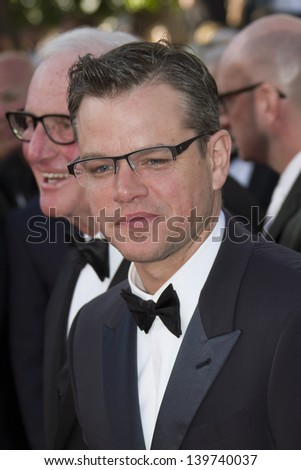 CANNES, FRANCE - MAY 21: Matt Damon attends 'Behind The Candelabra' Premiere during The 66th Annual Cannes Film Festival on May 21, 2013 in Cannes, France. - stock photo