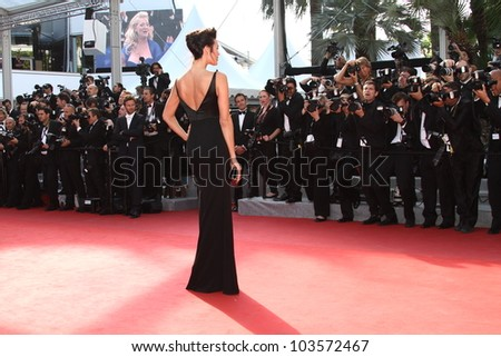 CANNES, FRANCE - MAY 26: Megan Gale attends the 'Mud' Premiere during the 65th Annual Cannes Film Festival at Palais des Festivals on May 26, 2012 in Cannes, France. - stock photo