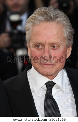 CANNES, FRANCE - MAY 14: Michael Douglas attends the Premiere of 'Wall Street 2' held at the Palais des Festivals during the 63rd  Cannes Film Festival on May 14, 2010 in Cannes, France - stock photo