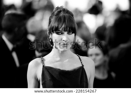 CANNES, FRANCE - MAY 21: Milla Jovovich attends the Premiere of 'Cleopatra' during the 66th Cannes Film Festival on May 21, 2013 in Cannes, France - stock photo