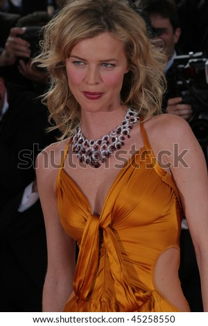 CANNES, FRANCE - MAY 17: Model Eva Herzigova arrives for the 'The Da Vinci Code' World Premiere  at the Palais des Festivals as part of the 59th  Cannes Film Festival on May 17, 2006 in Cannes, France - stock photo