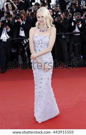 CANNES, FRANCE - MAY 11: Naomi Watts attends the 'Cafe Society' premiere during the 69th Cannes Film Festival on May 11, 2016 in Cannes, France. - stock photo
