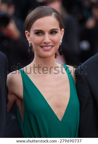 CANNES, FRANCE - MAY 19, 2015: Natalie Portman attendS the 'Sicario' Premiere during the 68th annual Cannes Film Festival on May 19, 2015 in Cannes, France. - stock photo