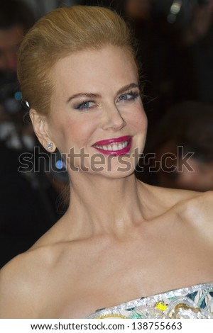 CANNES, FRANCE - MAY 15: Nicole Kidman attends  'The Great Gatsby' Premiere during the 66th Annual Cannes Film Festival at the Theatre Lumiere on May 15, 2013 in Cannes, France. - stock photo
