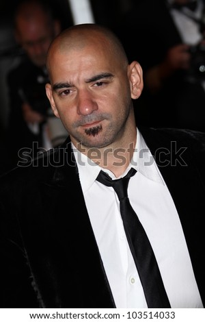 CANNES, FRANCE - MAY 23: Pablo Trapero attends the 'Holy Motors' Premiere during the 65th Annual Cannes Film Festival at Palais des Festivals on May 23, 2012 in Cannes, France. - stock photo