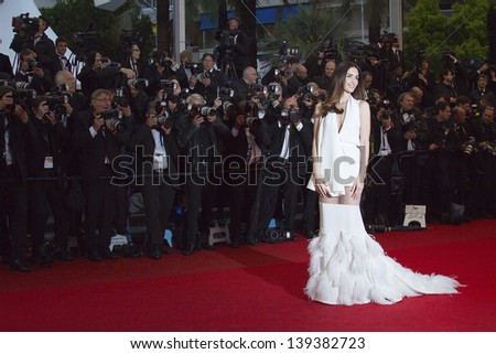 CANNES, FRANCE - MAY 18: Paz Vega attends the Premiere of 'Jimmy P. (Psychotherapy Of A Plains Indian)' at The 66th Annual Cannes Film Festival on May 18, 2013 in Cannes, France. - stock photo