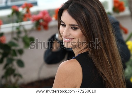 CANNES, FRANCE - MAY 14: Penelope Cruz attends the 'Pirates of the Caribbean: On Stranger Tides' Photocall during the 64th Cannes  Festival at Palais des Festivals on May 14, 2011 in Cannes, France - stock photo