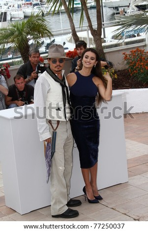 CANNES, FRANCE - MAY 14: Penelope Cruz attends the 'Pirates of the Caribbean: On Stranger Tides' Photocall during the 64 Cannes  Festival at Palais des Festivals on May 14, 2011 in Cannes, France - stock photo