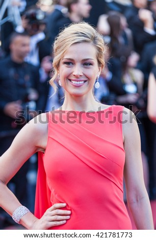 Cannes, France - 15 MAY 2016 - Petra Nemcova attends a screening of 'From The Land And The Moon (Mal De Pierres)' at the annual 69th Cannes Film Festival at Palais des Festivals - stock photo