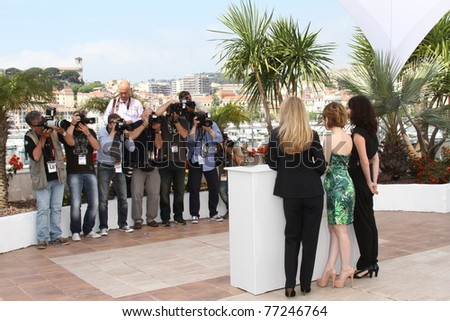 CANNES, FRANCE - MAY 12: Photographers attend the Un Certain Regard Jury Photocall during the 64th Annual Cannes Film Festival on May 12, 2011 in Cannes, France - stock photo