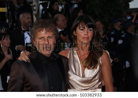 CANNES, FRANCE - MAY 23:  Renzo Rosso and Arianna Lessi attends the 'On The Road' Premiere during the 65th Annual Cannes Film Festival at Palais des Festivals on May 23, 2012 in Cannes, France. - stock photo