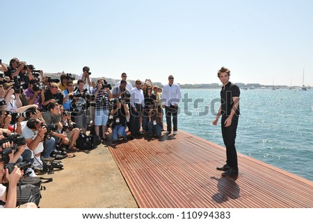 CANNES, FRANCE - MAY 19, 2009: Robert Pattinson Twilight star Robert Pattinson at photocall at the Majestic Pier during the 62nd Festival de Cannes - stock photo