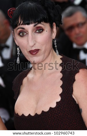 CANNES, FRANCE - MAY 17: Rossy de Palma  attends the 'De Rouille et D'os' Premiere during the 65th  Cannes Film Festival at Palais des Festivals on May 17, 2012 in Cannes, France. - stock photo