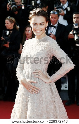 CANNES, FRANCE - MAY 25: Saadet Aksoy attends the Premiere of 'La Venus A La Fourrure' at The 66th Cannes Film Festival on May 25, 2013 in Cannes, France - stock photo