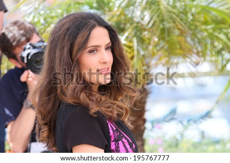 CANNES, FRANCE - MAY 17: Salma Hayek attends the 'Hommage Au Cinema D'Animation' photocall at the 67th Annual Cannes Film Festival on May 17, 2014 in Cannes, France. - stock photo