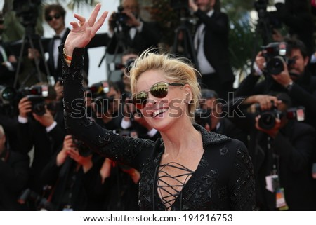 CANNES, FRANCE - MAY 21: Sharon Stone attends the 'The Search' Premiere at the 67th Annual Cannes Film Festival on May 21, 2014 in Cannes, France. - stock photo