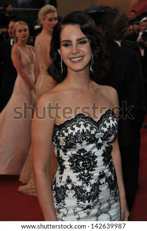"""CANNES, FRANCE - MAY 15, 2013: Singer Lana Del Rey at the premiere of """"The Great Gatsby"""" the opening movie of the 66th Festival de Cannes.  - stock photo"""