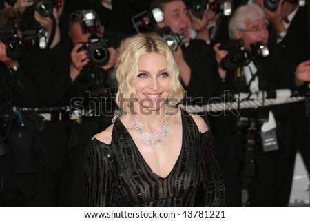 CANNES, FRANCE - MAY 21: Singer Madonna attends the 'I Am Because We Are' premiere at the Palais des Festivals during the 61st International Cannes Film Festival on May 21, 2008 in Cannes, France. - stock photo