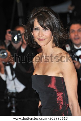 "CANNES, FRANCE - MAY 20, 2014: Sophie Marceau at the gala premiere of ""Coming Home"" at the 67th Festival de Cannes.  - stock photo"
