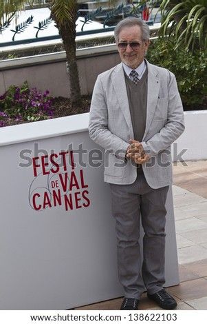 CANNES, FRANCE - MAY 15: Steven Spielberg attends the Jury Photocall during the 66th Annual Cannes Film Festival at the Palais des Festivals on May 15, 2013 in Cannes, France. - stock photo