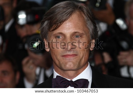 CANNES, FRANCE - MAY 23: Viggo Mortensen attends the 'On The Road' Premiere during the 65th Cannes Film Festival at Palais des Festivals on May 23, 2012 in Cannes, France. - stock photo