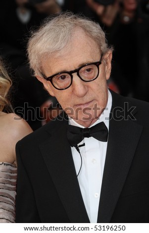 CANNES, FRANCE - MAY 15: Woody Allen attends the 'You Will Meet A Tall Dark Stranger' Premiere held at the Palais des Festivals during the 63rd Cannes  Festival on May 15, 2010 in Cannes, France - stock photo