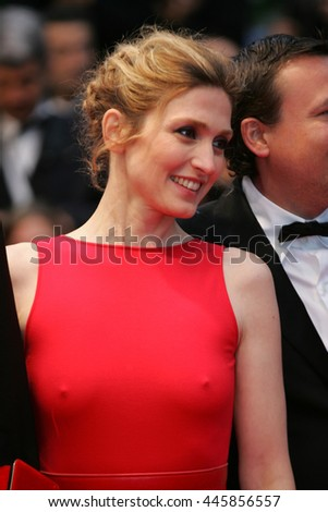 CANNES - MAY  20, 2012:Julie Gayet attends the Amour Premiere during the 65th Annual Cannes Film Festival on May 20, 2012 in Cannes - stock photo