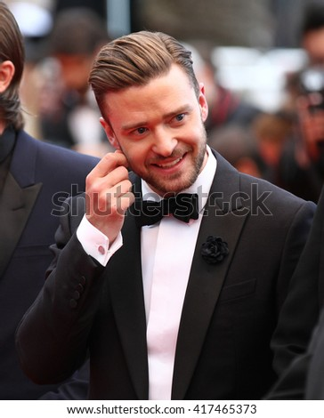 CANNES - MAY 19, 2013: Justin Timberlake attends Inside Llewyn Davis premiere - The 66th Annual Cannes Film Festival on May 19, 2013 in Cannes - stock photo