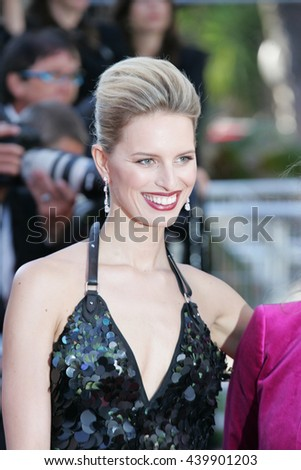 CANNES - MAY 22, 2012: Karolina Kurkov attends the Killing Them Softly Premiere - 65th Annual Cannes Film Festival on May 22, 2012 in Cannes - stock photo