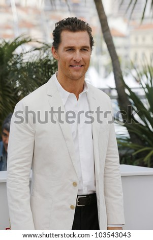 CANNES  - MAY 26: Matthew McConaughey at the Mud photocall during the 65th Cannes Film Festival on May 26, 2012 in Cannes, France - stock photo
