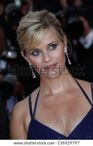 CANNES - MAY 26: Reese Witherspoon at the premiere of 'Mud' during the 65th Cannes Film Festival on May 26, 2012 in Cannes, France - stock photo