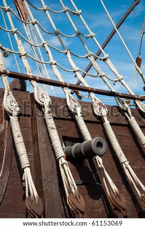 cannon of the Santa Maria, Columbus' ship - stock photo