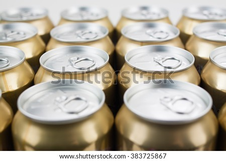 Cans together - stock photo